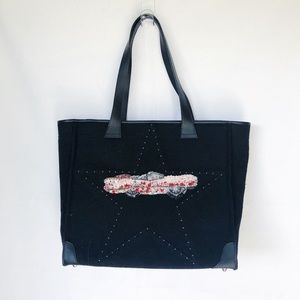 Vintage Felt and Sequin Cadillac Tote Bag